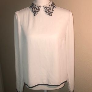 F21 rose detailed blouse